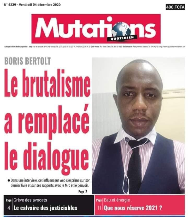 INTERVIEW DE BORIS BERTOLT DANS MUTATIONS